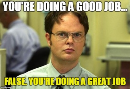 youre doing a great job meme